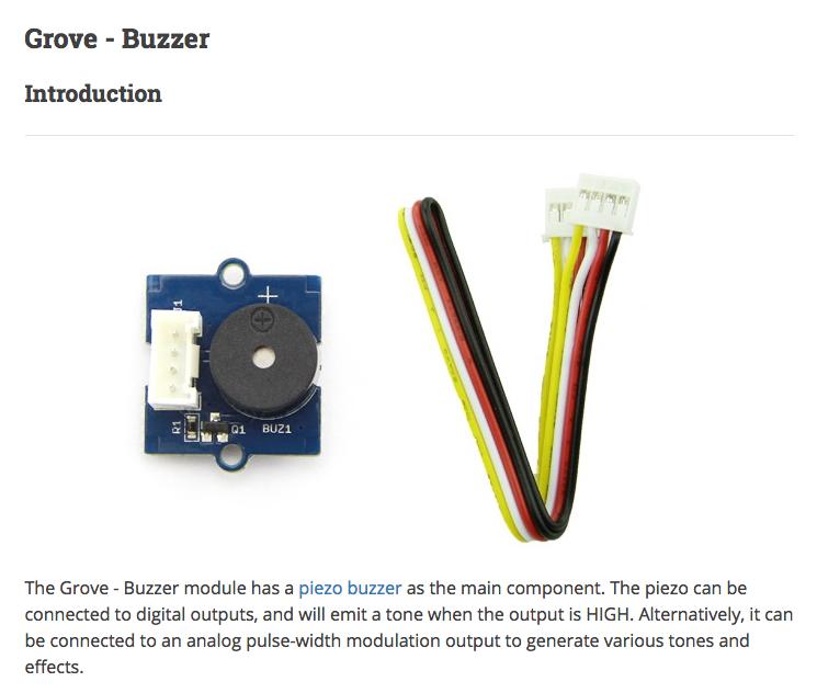Grove - Buzzer - Seeed Wiki